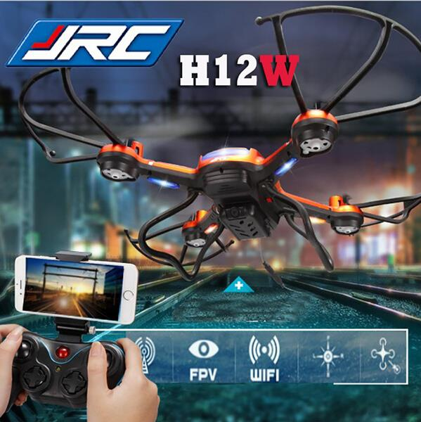 JJRC H12W 2.4G 4 CH 6-Axis Gyro RC FPV Quadcopter Wifi Drone with 2.0MP HD Camera Headless Mode and 3D Roll Dron rc drone u818a updated version dron jjrc u819a remote control helicopter quadcopter 6 axis gyro wifi fpv hd camera vs x400 x5sw