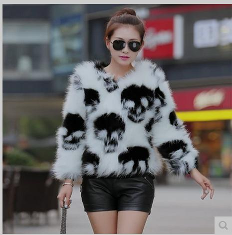 Free Shipping Womens Skull Printing Winter Spring <font><b>Faux</b></font> <font><b>Fur</b></font> Jacket Short Section Large Size Casual <font><b>Fur</b></font> <font><b>Coats</b></font> Female Clothes C11 image