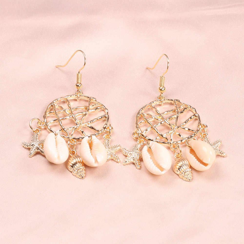 Sea Shell Statement Necklace Earrings  Boho Vintage Gypsy Fashion Jewelry  2019 Fashion Women Gifts