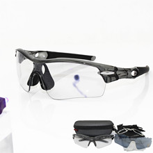 Photochromic Sunglasses Auto TR90 Sports Cycling Discolorati