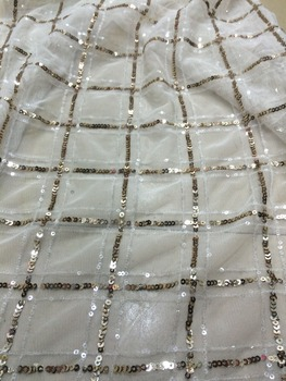 5yards best quality African embroidered lace fabric SYJ-6248 french net lace with sequins for nice dress