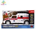 Simulación de inercia ambulancia con música ligera de plástico modelo de coche de colección toys regalos de navidad para niños