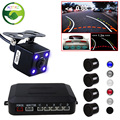 Mei Jing Car Auto Video Parking Radar Sensor Detector with 22MM Sensors + Rearview Camera with Auto-changeable Parking