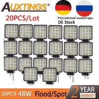 Auxtings 20pcs/Lot waterproof 48w Flood/Spot led Work Light bar waterproof CE RoHS offroad truck car LED work light 12v 24v