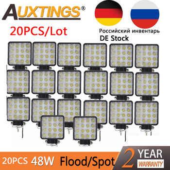 Auxtings 20pcs/Lot waterproof 48w Flood/Spot led Work Light bar waterproof CE RoHS offroad truck car LED work light 12v 24v - DISCOUNT ITEM  20% OFF All Category