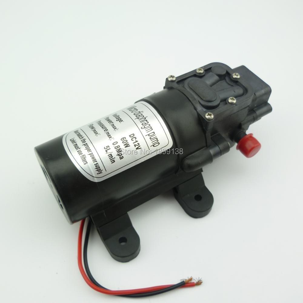 5L/min 60 W Retour type de vanne électrique auto amorçage mini 12 v pression pompe à eau