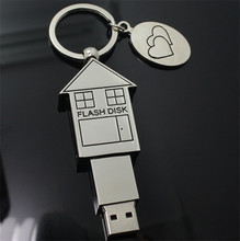 Metal House Shape USB Flash Drive 8GB 16GB 32GB 64GB Memory Stick Pendrive