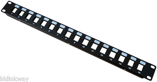16 Ports Unloaded Keystone Patch Panel -- Cable  Faceplate 16port Patch Panel