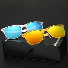 LUFF Aluminum-magnesium Sunglasses for Men and Women Bright Color Coated Polarized Driver Driving Classic Spectacles SN8559