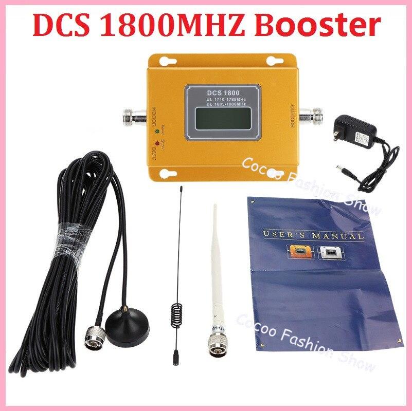 Ensemble complet GSM 4G LTE 1800 répéteur 60dB GSM 4G DCS 1800 amplificateur cellulaire amplificateur de Signal Mobile DCS 1800 mhz 4G antenne répétitrice