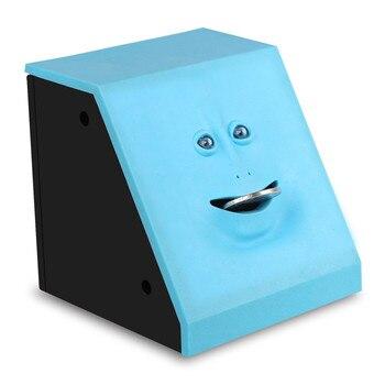 Hucha Comemonedas Azul