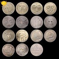 14pcs Endangered Wildlife Protection Diamond Commemorative Coin Mongolia 1 Oz 999 Silver Coins Collectibles 500 Torpor Coins