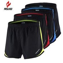 Running-Shorts Arsuxeo Summer Training Marathon Fitness Quick-Dry Men's Black 2-In-1