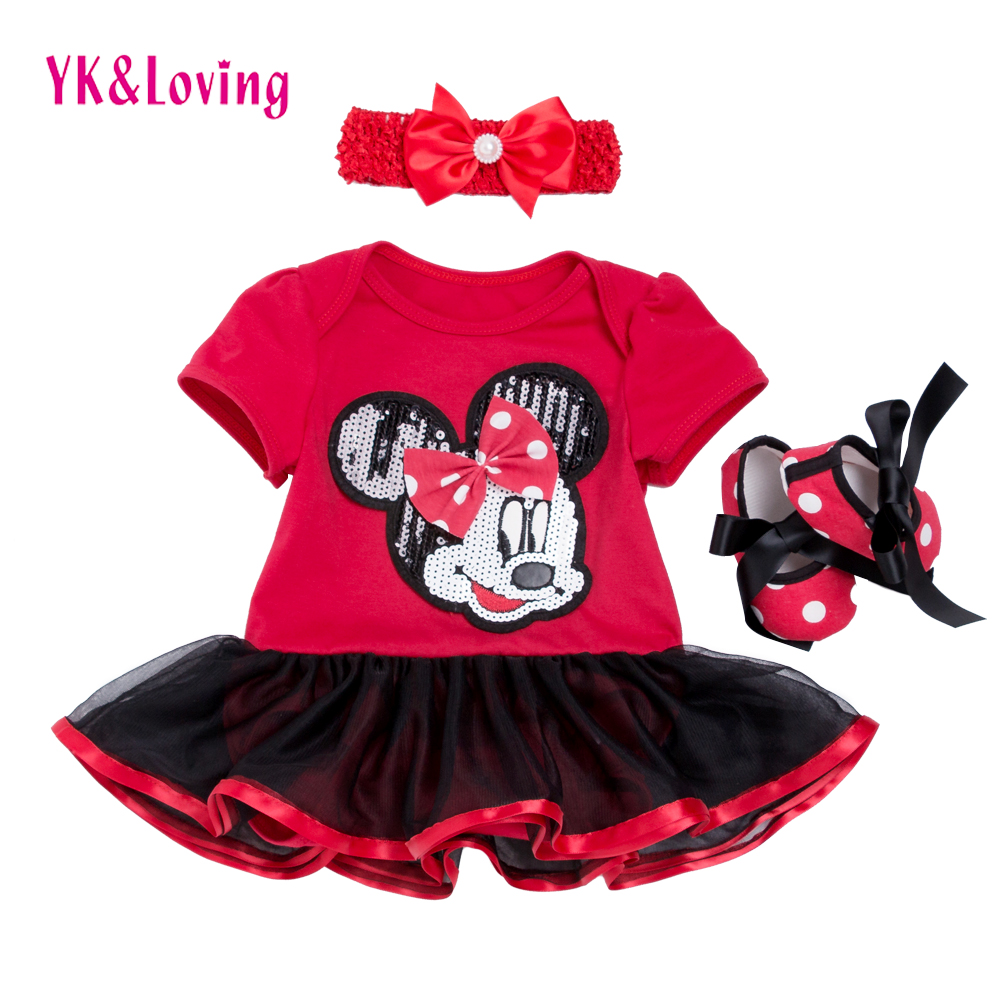Infant Baby Girl Dress 2015 Fashion Clothing Sets Tutu Cotton Cartoon Party Toddle Girl Christening Dresses 4th Of July Outfit