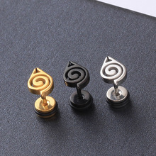 Naruto Earings Symbol Animation Titanium Steel