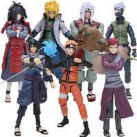 14 cm Naruto Uchiha Sasuke Itachi Namikaze Minato Hatake Kakashi Gaara Jiraiya PVC figurine jouets modèle