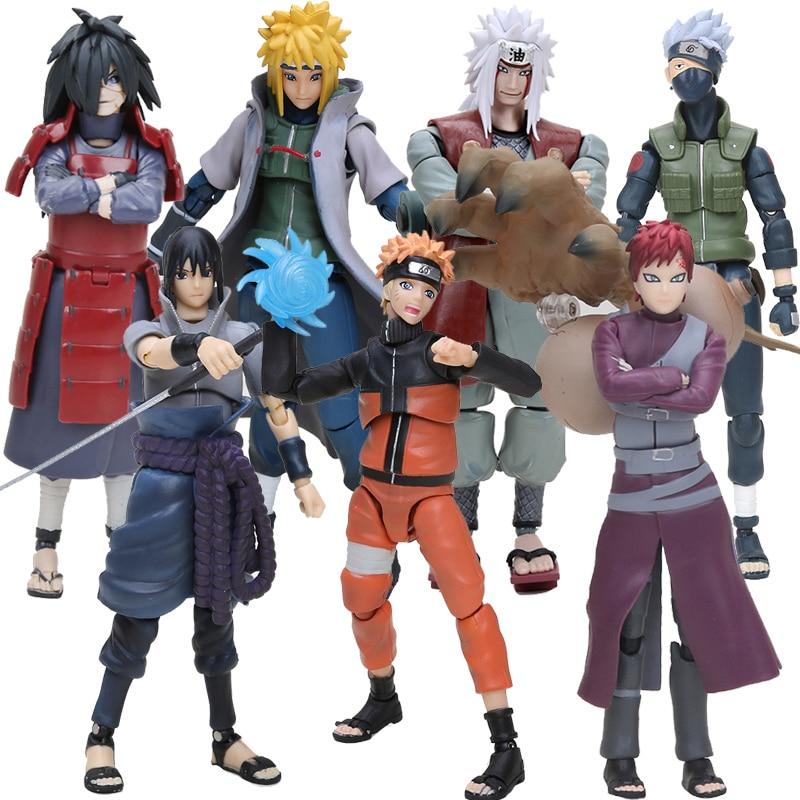 все цены на 14cm S.H. Figuarts SHF Naruto Uchiha Sasuke Itachi Namikaze Minato Hatake Kakashi Gaara Jiraiya PVC Action Figure Toys Model