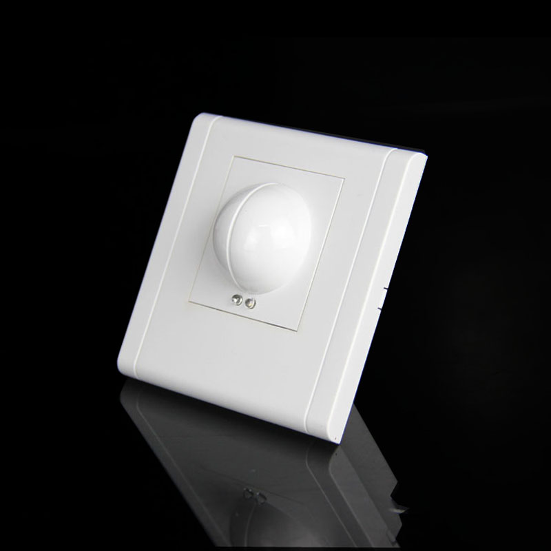 Free shopping 220/AC-240V/AC 360 degree Microwave Sensor Light Switch Induction Microwave Motion Sensor 86 motion sensor switch