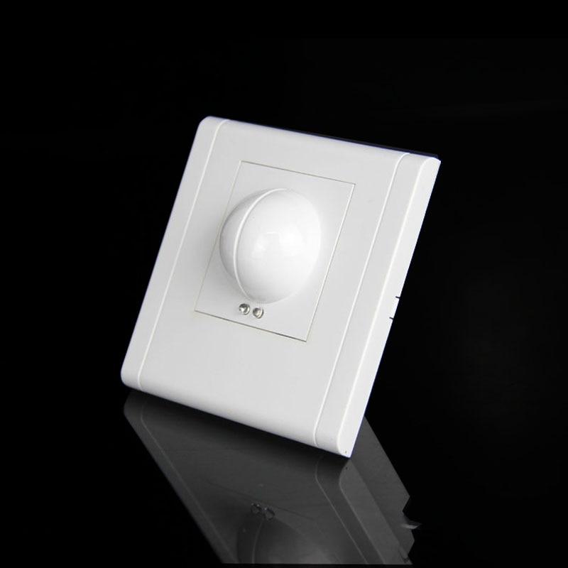 Free shopping 85V/AC-265V/AC 360 degree Microwave Sensor Light Switch Induction Microwave Motion Sensor 86 motion sensor switch