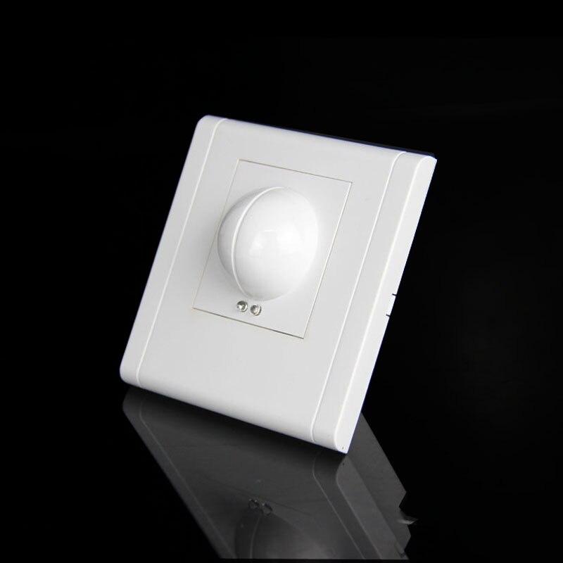 Interruptor de Luz Sensor de Indução de Microondas Free Shopping ac 360 Graus Microondas Motion Sensor 86 Interruptor 220 – Ac-240v