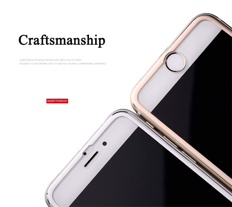 VOTHOON 0.26mm 3D Full Cover Tempered Glass For iphone 8Plus,7,6s Plus Screen Protector Curved Round Edge 4 Colors Curved glass