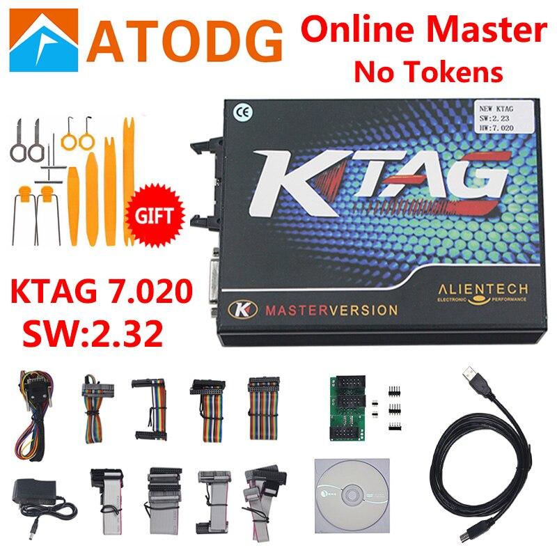 KTAG 7.020 V2.23 pas de limite de jeton KTAG V7.020 en ligne Mater K TAG V7.020 ECU programmeur k-tag 7.020 ECU réglage de la puce sur offre spéciale
