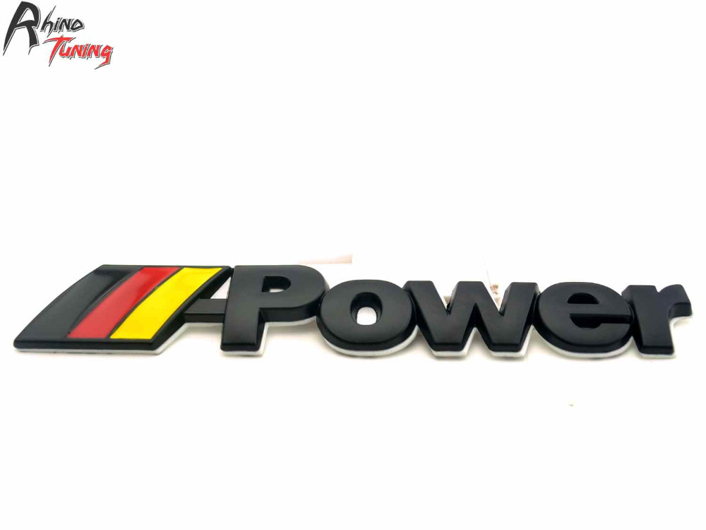 Rhino Tuning M Power Car-Modified Motorsport Germany Flag Emblem M Performance Auto Badge Sticker For M3 M5 E60 E90 F10 F82 motorsport manager