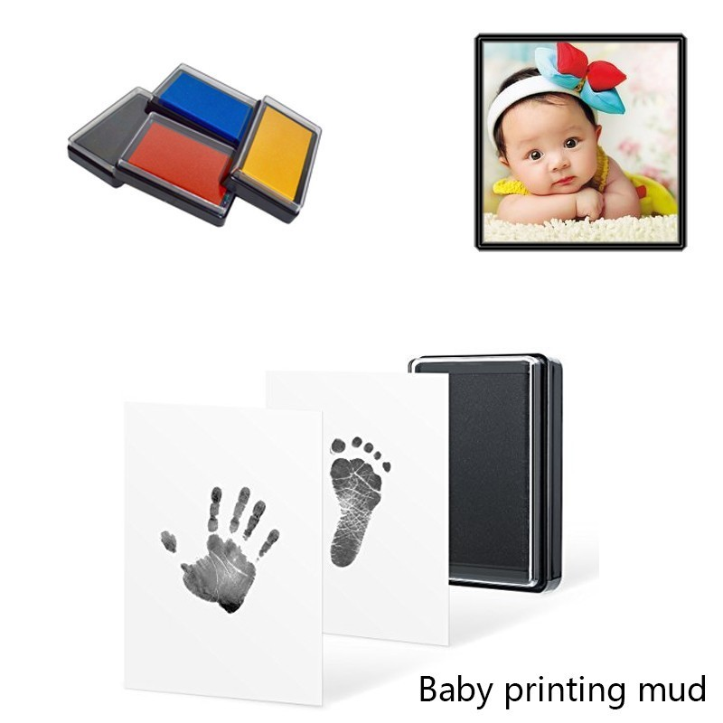 Baby Care Non-Toxic Handprint Footprint Imprint Kit Baby Souvenirs Newborn Footprint Ink Pad Infant Clay Toy A Hundred-day Gift