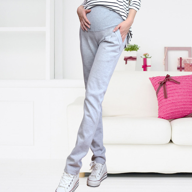 Women Stretch Pregnancy Trousers Leggings Maternity Clothing Maternity Pants High Waist Casual Pregnancy Clothes for Pregnant
