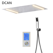 DCAN Digital Shower Set Controller Touch Control Panel SUS304 Rainfall Bathroom Thermostatic Control Led Digital Shower Faucet