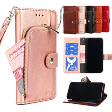 for Meizu m6 case Luxury PU Leather Flip cover with Stand Card Slot Wallet style Cases M6S funda