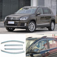 4pcs New Smoked Clear Window Vent Shade Visor Wind Deflectors For VW Tiguan 2011