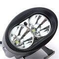 Desconto 1 pcs AMARELO BRANCO Driving Nevoeiro 4 inch 20 W Daytime execução Luzes OVAL LED Trabalho Light Offroad Da Motocicleta ATV SUV 4WD