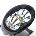 Discount 1pcs WHITE YELLOW Driving Fog Lamps 4inch 20W Daytime Running Lights OVAL LED Work Light Offroad Motorcycle SUV ATV 4WD