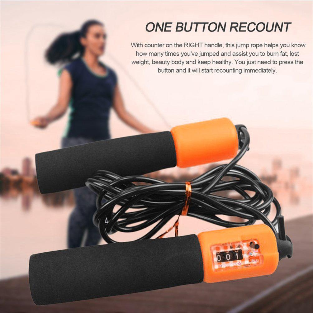 Sports Jump Rope 2.8M Adjustable  Anti-slip Jump Rope With Accurate Counter Safe For Adult Children Fitness Training Jump Rope