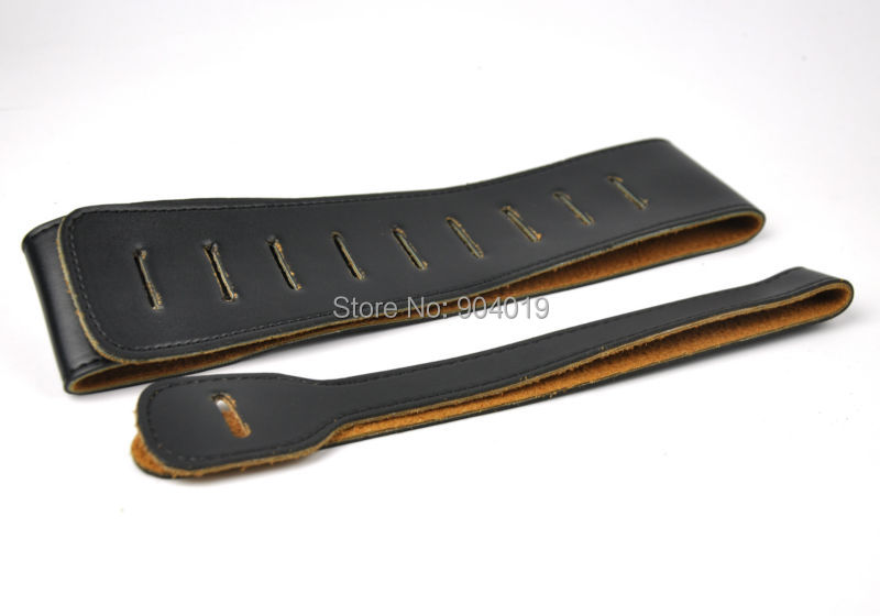 PU Leather Guitar Strap 2 1 2 Wide Black