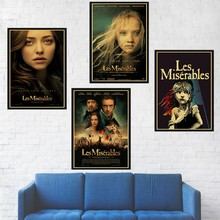 Les Miserables Movie Poster Retro Kraft Paper High Quality Print Decorative Painting Bar Home Wall Decor Poster No Frame(China)