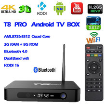T8 Pro Android 4kK TV Box Amlogic S812 Quad Core 2G/8G  Support Airplay DLNA HEVC IPTV KODI Smart Set top Box Media Player