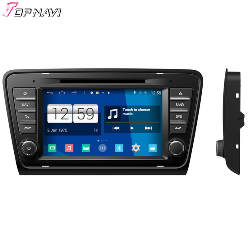 Top Newest Quad Core S160 Android 4.4 Car DVD Radio For Skoda Octavia 2013 With Mirror Link 16GB Flash Wifi BT GPS