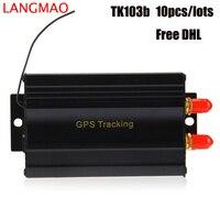 10pcs Free DHL Car GPS Tracker TK103B Real Time Monitoring GPS SMS GPRS Vehicle Tracker Locator with SIM SD Card Anti theft