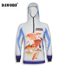 цена на New arrival DAWOBO brand Professional Clothes Fishing Anti UV Anti mosquit Breathable Quick-drying homme Fishing Shirt