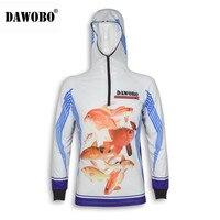 New arrival DAWOBO thương hiệu Chuyên Nghiệp Quần Áo Đánh Cá Chống UV Chống mosquit Thoáng Khí khô Nhanh homme Áo Cá