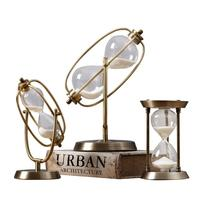 Simple Modern Hourglass Timer Decoration Living Room Study Time Hourglass Creative Metal Hourglass Wedding present