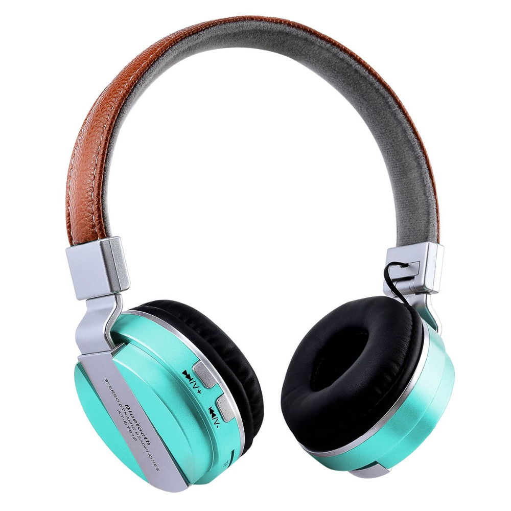 Fashion BT819 Bluetooth Headset Wireless Earphones Leather Hood Stereo Dynamic Headphones Support TF Card with Mic for Phone PC