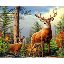 NEW Diy Diamond painting Forest deer Rhinestone Cross stitch Mosaic Picture  embroidery Animal