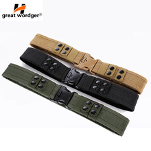 Outdoor Airsoft Military Tactical Belt Unisex Durable Canvas Material Hunting Climbing Utility Adjustable Waistband 600d military tactical molle unisex clay dragon tactical belt durable canvas hunting material outdoor utility accessories