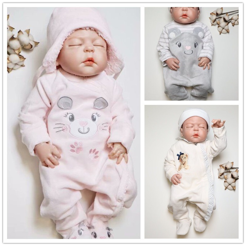 Kavkas Baby Rompers Winter Newborn Baby Warm Thick Velvet Jumpsuits For Bebe Girls Toddler Long Sleeved Overalls Jumper 0-24M