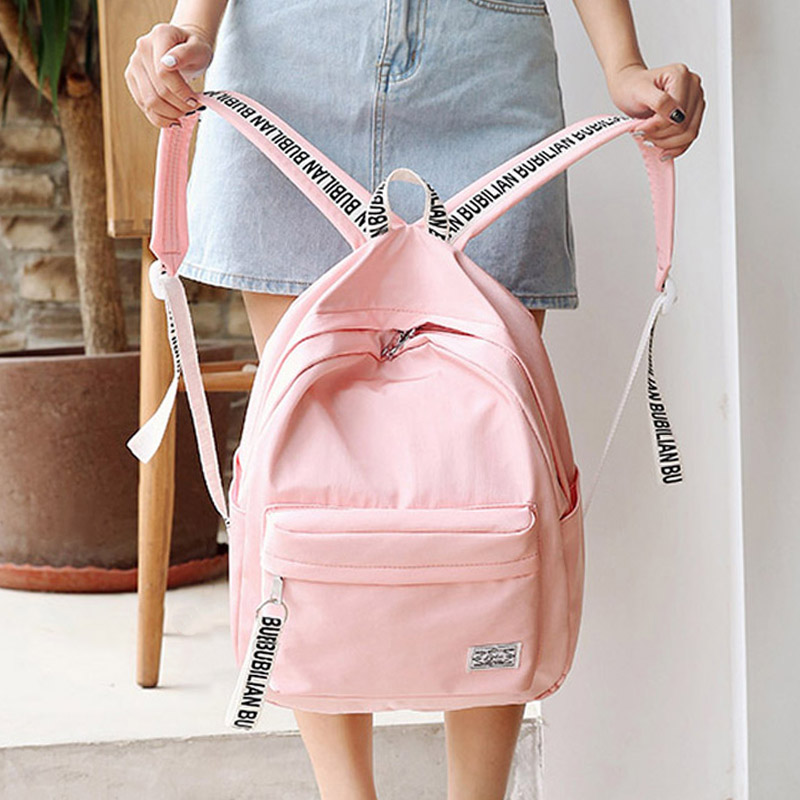 Schoolbag female student Korean campus backpack Korea fresh Mori girl simple travel back ...