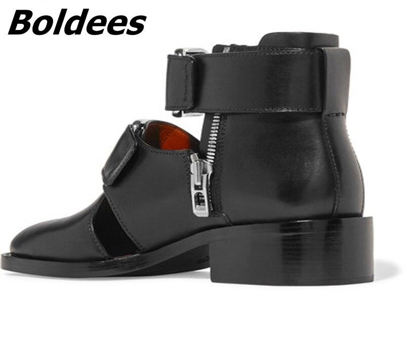 Boldees Лето Для мужчин Римские сандалии в римском стиле Подиум итальянский кожаные сандалии для Для мужчин туфли с декоративными вырезами обу...