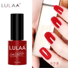 LULAA Gel Varnish 10 Ml UV LED Soak Off Nail Gel Polish Long Lasting Gel Nail Polishes Lacquer For DIY Nail Art Design Manicure недорого